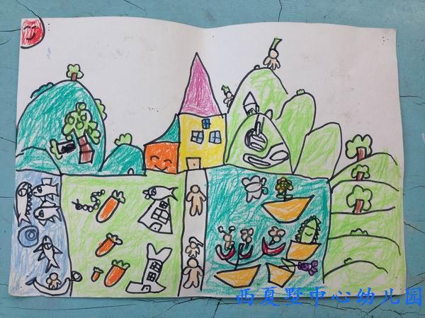幼儿园未来海底世界科幻画